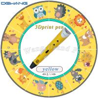 Wholesale Yellow Safe three dimensional printing pen / 3D Air Pen For Children from china suppliers