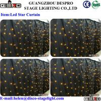Wholesale Single Color LED Star Curtain Sound Activated Lights For Wedding Stage from china suppliers