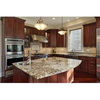 Wholesale Classic Coffee glazed solid wood Kitchen cabinet from china suppliers
