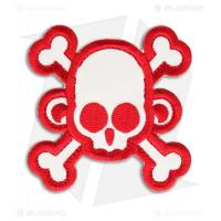 Wholesale Skull Monkey Cross Patch Hook Velcro Back from china suppliers