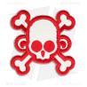 Buy cheap Skull Monkey Cross Patch Hook Velcro Back from wholesalers
