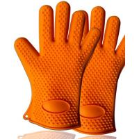 Wholesale Hot Sale Eco-friendly Heat Resistant Triangle-shaped Point Silicone Baking Gloves from china suppliers