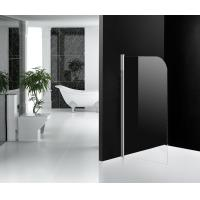 One Panel Glass Bath Shower Screens Frameless 800 x 1300 mm Pivot Open