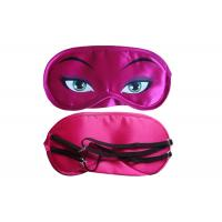 Wholesale Beautiful Soft  Satin Material Sleep Mask With Eyes Rose Red Color from china suppliers