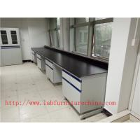 Wholesale 1500 mm   Width  Steel Wood Frame Blue /  White Science Lab Testing Tables Used  Furniture For High School / Hospital from china suppliers