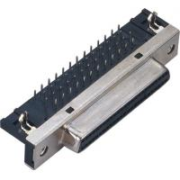 Quality 1.27 Spacing 50P 90 Degrees Insert Computer Pin Connectors SCSI Connector Plate End Connection for sale