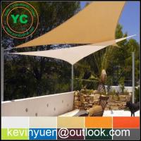 Quality NEW GREEN AND BEIGE TRIANGLE SUN SHADE SAILS ALL SIZES for sale