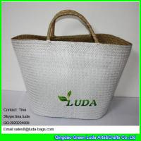 Wholesale LUDA 2016 hot summer holiday use ecofriendly beach white seagrass straw bag from china suppliers