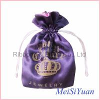 Wholesale Two Color Personal Logo Custom drawstring bags / pouch For Promotion from china suppliers