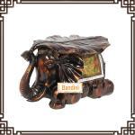 Wholesale Imitation wood like colour elephant stool home decor wedding gift resin FG065AM from china suppliers