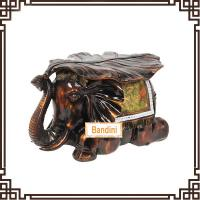 Quality Imitation wood like colour elephant stool home decor wedding gift resin FG065AM for sale