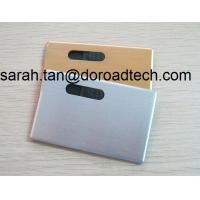Wholesale Metal Bank Card USB Flash Drives, True Capacity Card USB Pen Drive from china suppliers