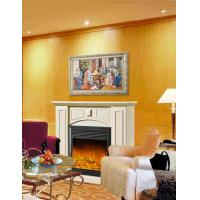 Wholesale Imitation Antique Marble Fireplaces , Wall Mounted Decorative Flame LED Electric Fireplace from china suppliers