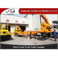 Wholesale 20 Foot / 40 Foot Side Loader Trailer With Hydraulic Lifting System from china suppliers