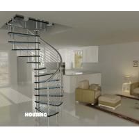 Wholesale Indoor Custom Spiral Staircases With Stainless Steel Handrail from china suppliers