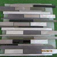 Buy cheap aluminium profile mosaic tiles with glass from wholesalers