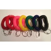 Wholesale High quality spiral wrist coil key chains economical color keyring holder w/round key ring from china suppliers