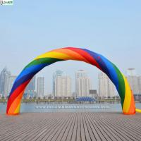 Buy cheap Advertising Beautiful Rainbow Inflatable Arches For Event Party Decoration from wholesalers