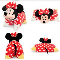 Wholesale Red Lovely Disney Minnie Mouse Toddler Pillow With Plush Minnie Head from china suppliers