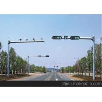 Wholesale Custom Highway / Driveway Light Poles With Galvanized Ancho Bolt , 6m Cross Arm from china suppliers