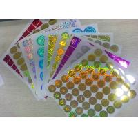 Wholesale Anti - Dirty Security Hologram Stickers Multi Color In Small Round Shape from china suppliers