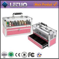 Wholesale aluminum professional nail artist cosmetic case monogram cosmetic bag vanity case from china suppliers