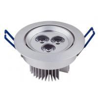 Wholesale Embed CRI 80 210Lm 3W Commercial LED Downlights Angle Adjustable from china suppliers