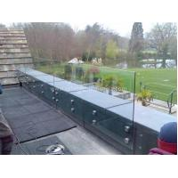Wholesale Modern Exterior Toughened Glass Balustrade Panels , Building Glass Guardrail from china suppliers