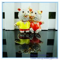 Wholesale Lovers couple metal Pigs Pendant Keychain from china suppliers