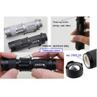 Buy cheap Telescopic zoom CREE Q5 Flashlight LED  , size: 97*27mm from wholesalers