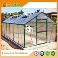 Wholesale 606x306x244cm Good Quality Easy DIY Green Color Aluminum Greenhouse from china suppliers