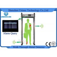 Wholesale Multi Zones Walk Thru Metal Detectors , Security Check Gate 999 Sensitivity Level from china suppliers