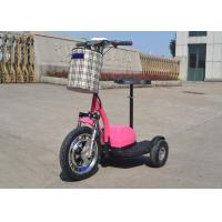 Quality Hand Brake 350w Electric Moped Bike 25 Km/H With Permanent Magnet Brushed DC Motor for sale
