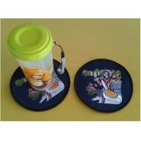 Wholesale Embroidered cup coasters, table cup mat,household tableware hot mat,China factory in stock from china suppliers