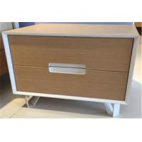 Wholesale Fashionable Sturdy Indoor Storage Cabinets With 2 Drawers , Hardwood Bedside Tables from china suppliers