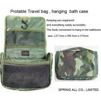 Wholesale Camouflage hanging bath bag, hanging cosmetic bag, travel bath hang bag from china suppliers