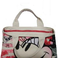 Wholesale Waterproof Shopping  Nylon Tote Bag 420D Mickey Pattern With Zipper from china suppliers