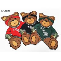 Wholesale Custom Iron - On Backing Bear Logo Clothing Embroidery Patches Large Size from china suppliers