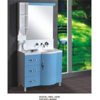 Wholesale Light blue round Type Hanging Bathroom vanity double sink 92 X 48 / cm artificial stone Basin from china suppliers