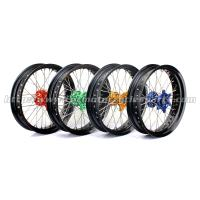 Wholesale Front Rear Custom Motorcycle Wheels Forged Alloy 17 Black Rims Supermoto Wheels from china suppliers