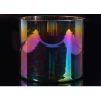Quality Popular Decor Candle Holder Glass Replacement Luxury Iridescent Straight Side for sale
