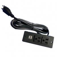 Wholesale USA power strip with 2 usb ports UL socket furniture socket from china suppliers