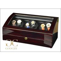 Wholesale Ruby Finish Wood Watch Winder / Triple Watch Winder For Luxury Watches from china suppliers