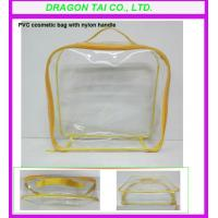 Wholesale PVC cosmetic bag with nylon handle , makeup bags, pvc zippered bag from china suppliers