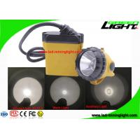 China IP68 Wired Mining Cap Lamp , Flame Retardant 25000 Lux Underground Hard Hat Light with PC Shell on sale