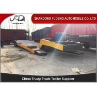 Wholesale Tri Axle Steel Detachable Gooseneck Trailer For Heavy Equipment Transport from china suppliers