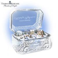 Wholesale Thomas Kinkade Holiday Reflections Crystal Music Box by The Bradford Exchange from china suppliers