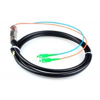 Wholesale 5M Waterproof SC / APC Pigtail , G652D 2 Core Single Mode Fiber Optic Cable from china suppliers