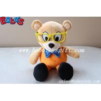 Wholesale Custom Mascot Bear Toy Stuffed Bear Animal With Glass from china suppliers