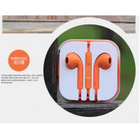 Wholesale In-ear Earphone with Volume control and Mic for Iphone, Orange Color from china suppliers